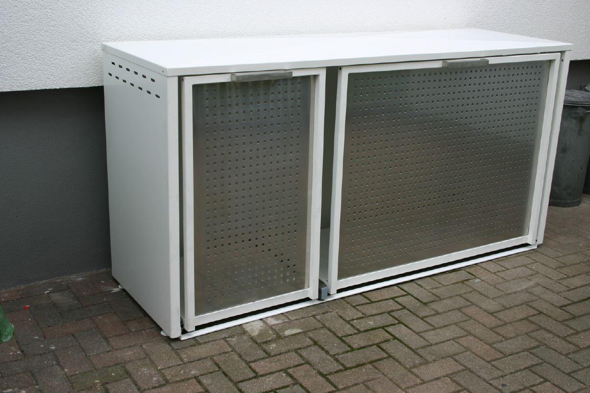 m llboxen aluminium edelstahl. Black Bedroom Furniture Sets. Home Design Ideas